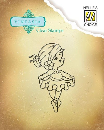 Nellie Snellen Vintasia Clearstamp 2 Cute Embition
